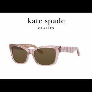 kate spade Alora/P/S beige square sunglasses EUC